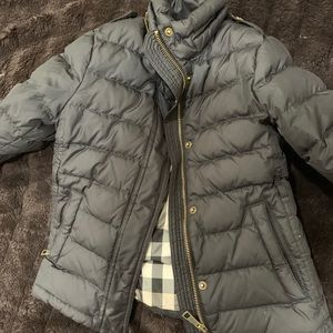 Trim puffer burberry girl coat